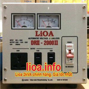 Ổn Áp Lioa 2kVA DRII-2000 Điện Vào 50V-250V Điện Ra 110V 220V