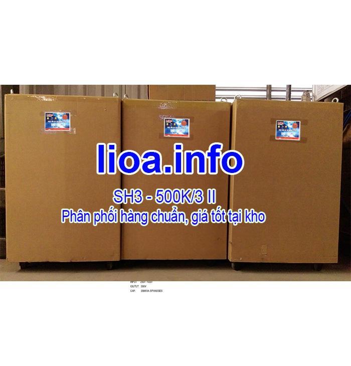 Ổn Áp Lioa 500kVA SH3 3 Pha Đời Mới Nhất Giá Cực Tốt