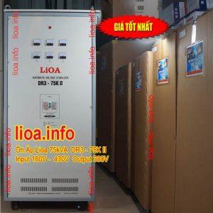 Ổn Áp Lioa 75kVA DR3-75K II Hàng Chính Hãng Bán Giá Phân Phối Tại Kho Cực Tốt