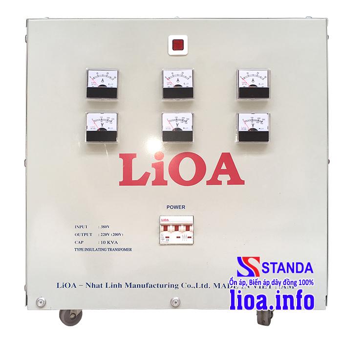 Biến Áp Cách Ly Lioa 10kVA 3 Pha