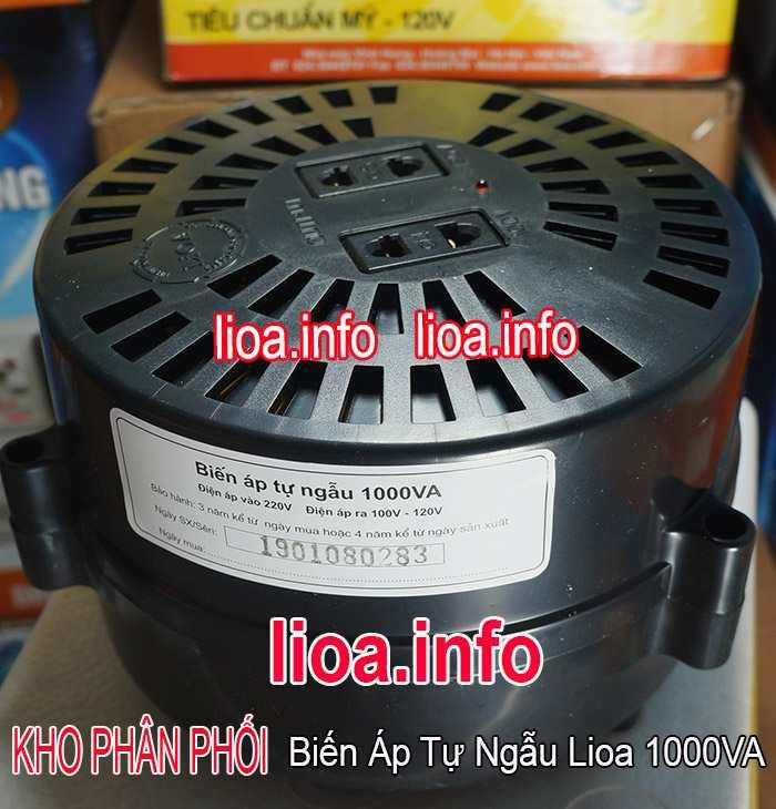 Biến Áp Tự Ngẫu Lioa 1000VA Model DN 010 Tổng Kho Phân Phối Hàng Chuẩn