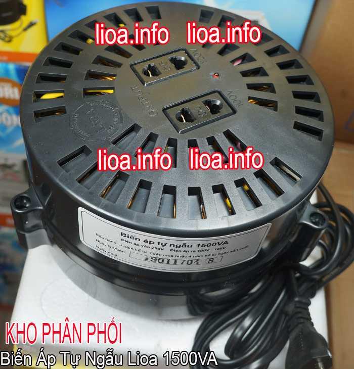 Biến Áp Tự Ngẫu Lioa 1500VA Model DN 015 Tổng Kho Phân Phối Hàng Chuẩn