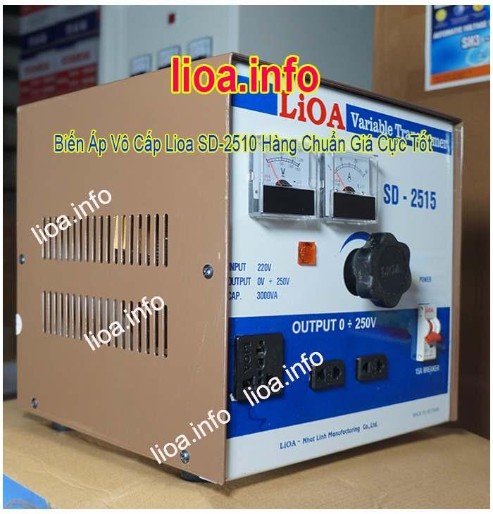 Biến Áp Vô Cấp Lioa SD-2515 Điện Vào 220V Điện Ra Vô Cấp 0V~250V