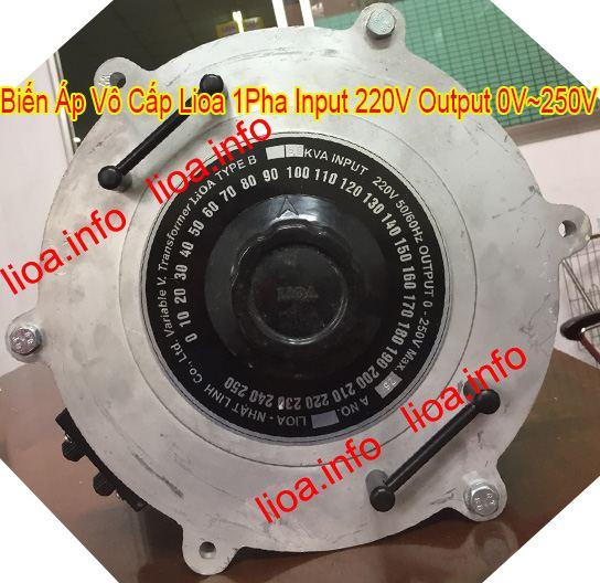Biến Áp Vô Cấp Lioa 1 Pha Điện Vào 220V Điện Ra Thay Đổi Từ 0V Đến 250V