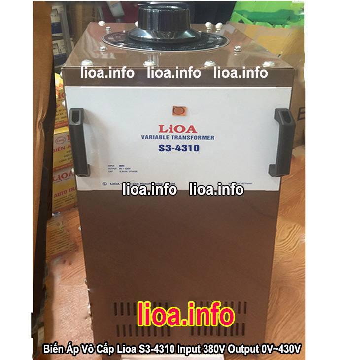 Biến Áp Vô Cấp Lioa S3-4310 3 Pha Công Suất 6,6kVA Điện Vào 380V Điện Ra 0V-430V