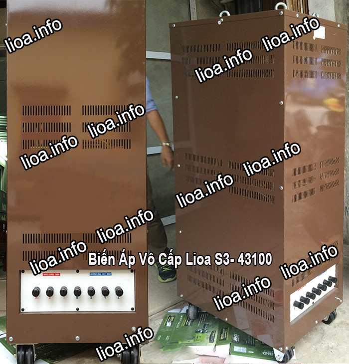 Biến Áp Vô Cấp Lioa S3-43100 Công Suất 66kVA Giá Phân Phối