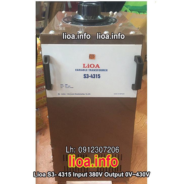 Biến Áp Vô Cấp Lioa S3-4315 3 Pha Công Suất 9,9kVA Điện Vào 380V Điện Ra 0V-430V