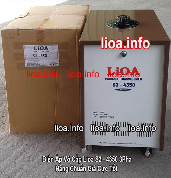 Biến Áp Vô Cấp Lioa S3-4350 3Pha Điện Ra Từ 0V-430V Hàng Chuẩn Mới