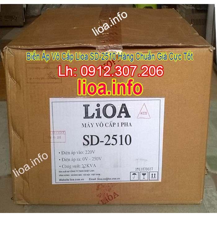 Biến Áp Vô Cấp LiOA SD-2510 Input 220V Output 0V-250V Giá Phân Phối Tại Kho Cực Tốt