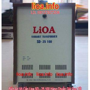 Biến Áp Vô Cấp LiOA SD-25100 Input 220V Output 2V-250V Giá Phân Phối Tại Kho Cực Tốt