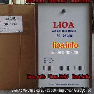Biến Áp Vô Cấp Lioa SD-25300 Công Suất 66kVA Điện Vào 220V Điện Ra 2V-250V