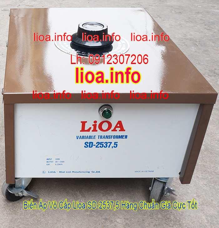 Biến Áp Vô Cấp LiOA SD-2537,5 Input 220V Output 0V-250V Giá Phân Phối Tại Kho Cực Tốt
