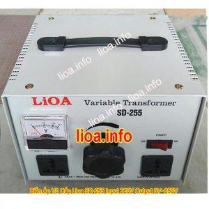 Biến Áp Vô Cấp Lioa SD-255 Công Suất 1,1kVA Điện Vào 220V Điện Ra Thay Đổi Từ 0V Đến 250V