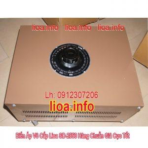 Biến Áp Vô Cấp Lioa SD-2550 Công Suất 11kVA Điện Vào 220V Điện Ra Thay Đổi Từ 0V Đến 250V