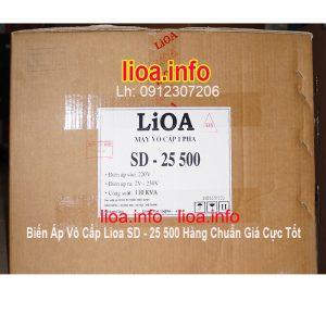 Biến Áp Vô Cấp LiOA SD-25500 Điều Chỉnh Điện Ra Từ 2V-250V Chính Hãng Công Suất 110KVA 500A