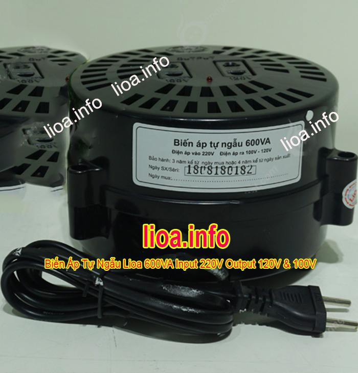 Đổi Nguồn Lioa 220V Sang 100V và 120V Chính Hãng Công Suất 600VA Giá Tốt