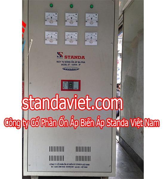 Ổn áp standa 100kva dải 260v-430v chính hãng