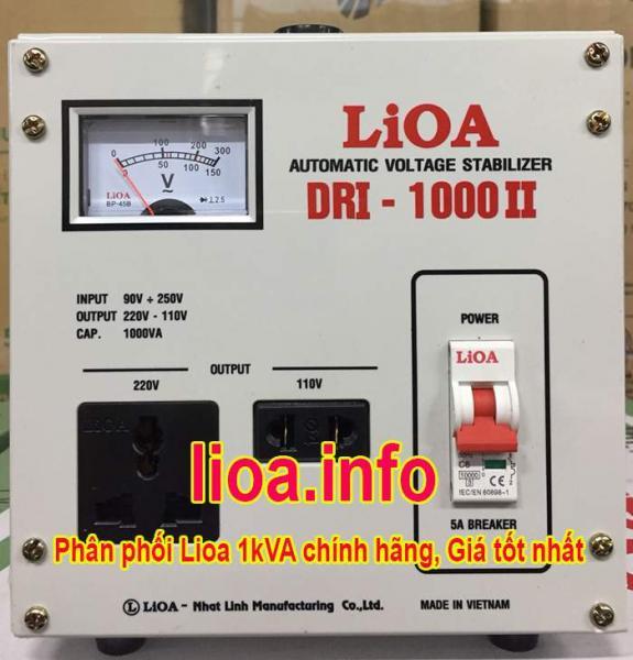 Ổn Áp Lioa 1kVA DRI-1000II Điện Vào 90V-250V Điện Ra 110V; 220V