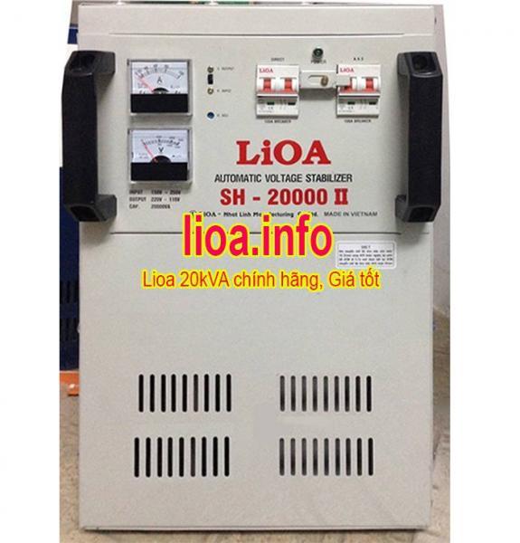 Ổn Áp Lioa 20kVA SH-20000II Đời Mới Nhất Giá Cực Tốt