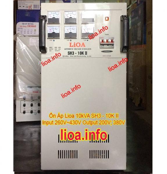 Ổn Áp Lioa 10kVA SH3-10K II Hàng Chính Hãng Giá Phân Phối Tại Kho