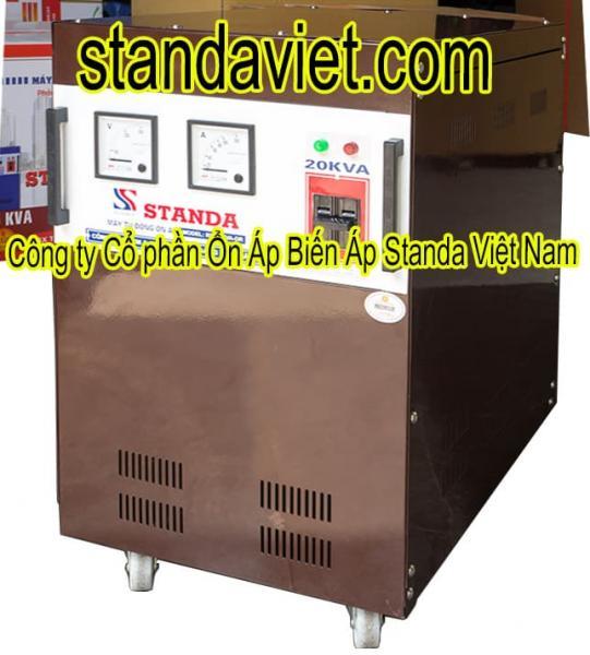 Ổn áp standa 20kVA dải 90V-250V chính hãng