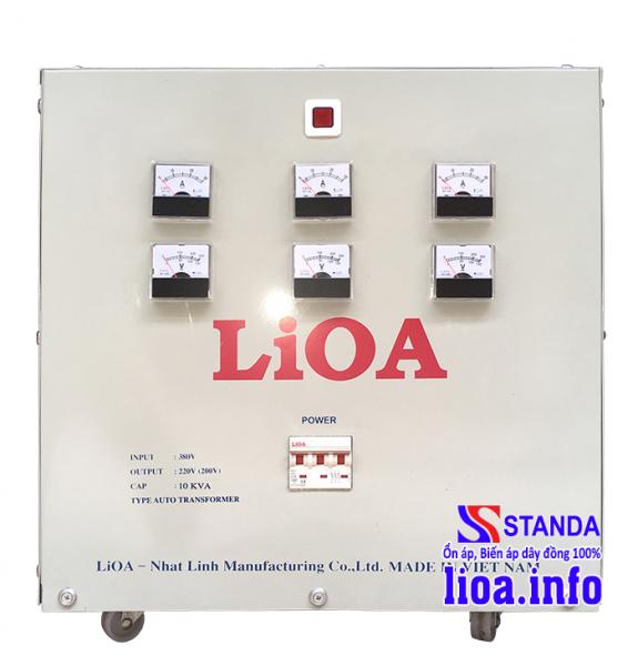 Biến áp tự ngẫu Lioa 10kVA 3 pha