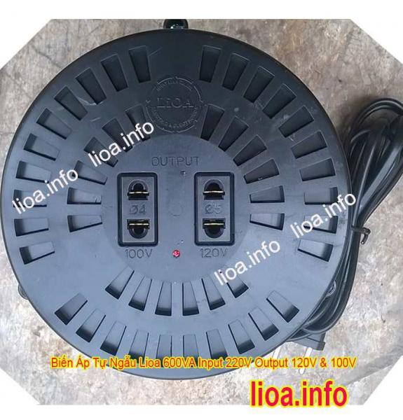 Đổi Nguồn LiOA 600VA 220V sang 120V 100V 0.6kVA | Lioa.info