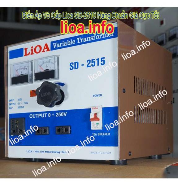 Biến Áp Vô Cấp LiOA SD-2515 Input 220V Output 0V-250V Giá Phân Phối Tại Kho Cực Tốt