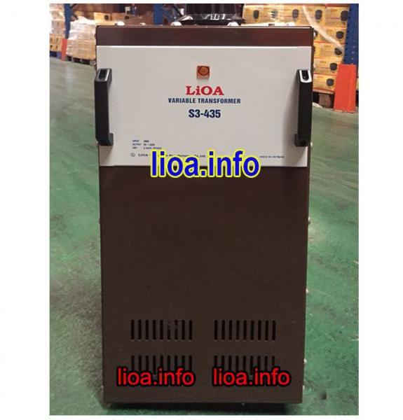 Biến Áp Vô Cấp Lioa S3-435 3 Pha Công Suất 3,3kVA Điện Vào 380V Điện Ra 0V-430V