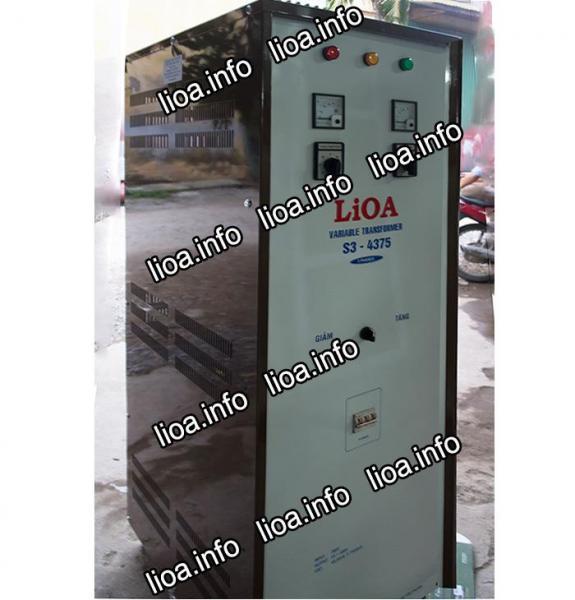 Biến Áp Vô Cấp Lioa S3-4375 3 Pha Công Suất 49,5kVA Điện Vào 380V Điện Ra 0V-430V