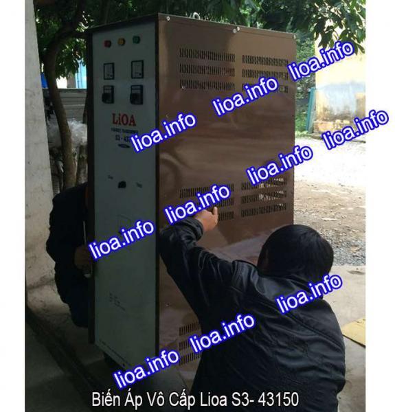 Biến Áp Vô Cấp Lioa S3-43150 3 Pha Công Suất 99kVA Điện Vào 380V Điện Ra 0V-430V